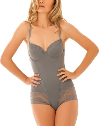 Charcoal Hipster Shaper Bodysuit - Women & Plus