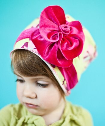 Pink & Green Wallflower Hat
