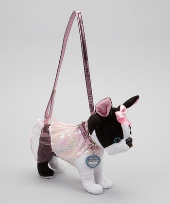 Iridescent Pink Starlet Boston Terrier Purse