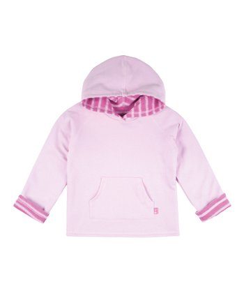 Fuchsia & Pink Stripe Reversible Hoodie - Infant, Toddler & Girls