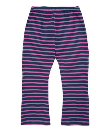 Navy & Fuchsia Stripe Pants - Infant, Toddler & Girls