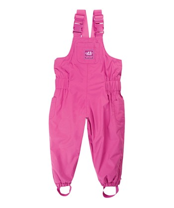 Fuchsia Waterproof Fleece Lined Bib Pants - Infant, Toddler & Girls