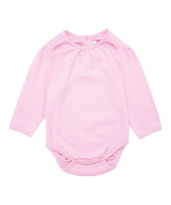 Pink Gathered Neck Bodysuit - Infant & Toddler