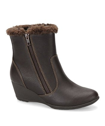 Dark Brown Odele Wedge Boot