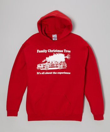 Red 'Family Christmas Tree' Hoodie - Kids & Adult
