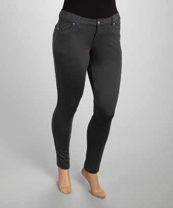 Charcoal Skinny Pants - Plus