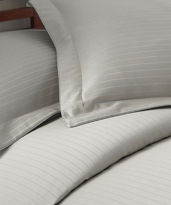 Silver Stripe 800-Thread Count Duvet Set