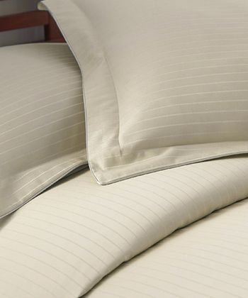 Champagne Stripe 800-Thread Count Duvet Set