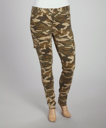 Olive Camo Skinny Pants - Women & Plus