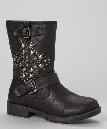 Black Martina Studded Boot
