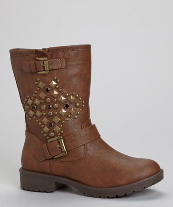 Brown Martina Studded Boot