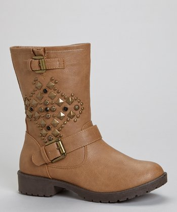 Tan Martina Studded Boot