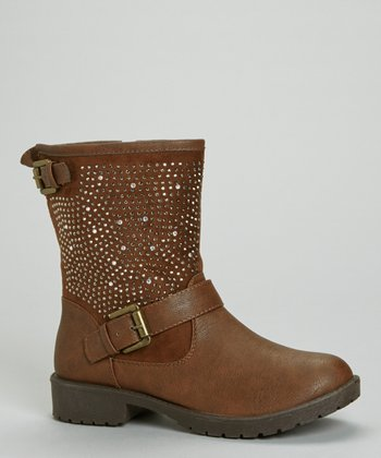 Brown Martina Rhinestone Boot