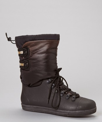 Black Eliza Lace-Up Boot