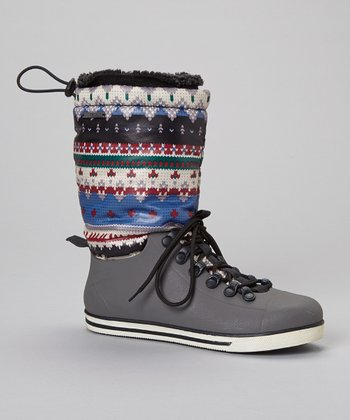 Black Eliza Drawstring Boot