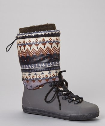 Brown Eliza Drawstring Boot