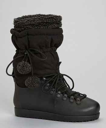Black Skyler Drawstring Boot