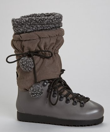 Gray Skyler Drawstring Boot