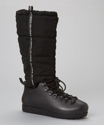 Black Skyler Flat Boot