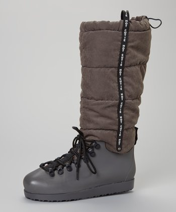 Gray Skyler Flat Boot