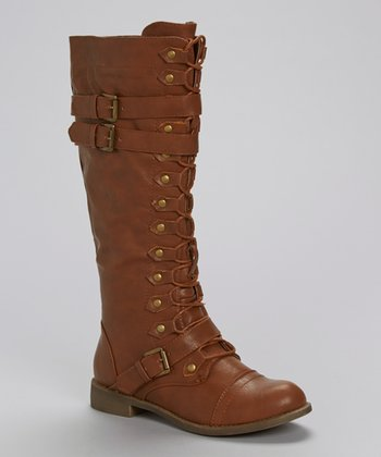 Cognac Soldier Boot