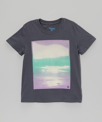 Antique Navy Surfscape Organic Tee - Toddler & Boys