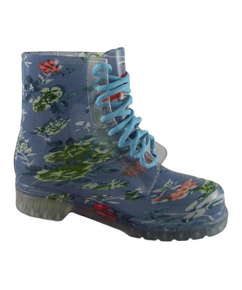 Dark Blue Alyson Flower Alyson Boot