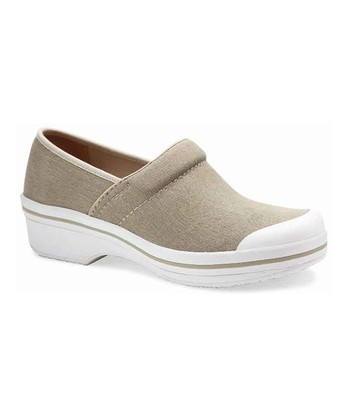 Sand & White Volley Clog - Women