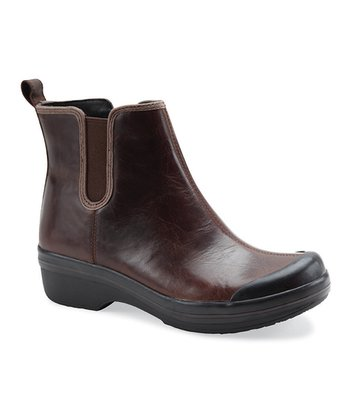 Brown Leather Vail Rain Boot - Women
