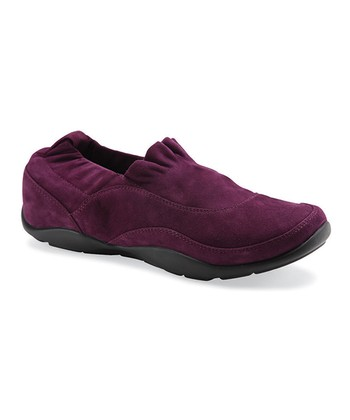 Plum Suede Cadence Slip On - Women