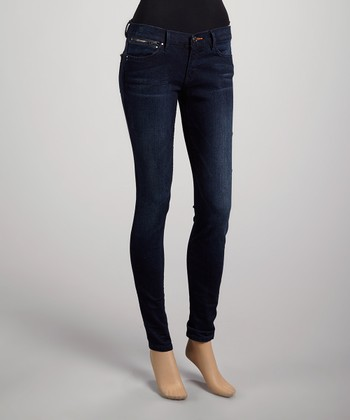 Rocket Vivian Low-Rise Zip Jean Leggings