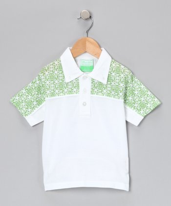 Green Retro Polo - Infant, Toddler & Boys