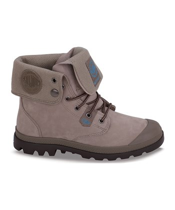 Palladium Dust & Chocolate Baggy Lite Gusset Leather Boot
