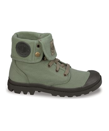 Green Baggy Canvas Boot