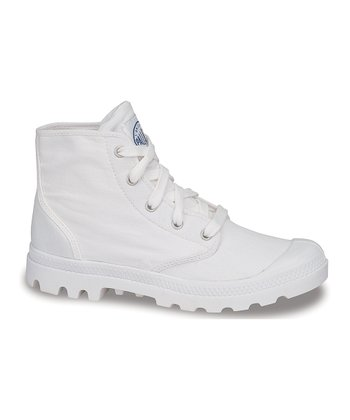 White Pampa Hi Canvas Boot