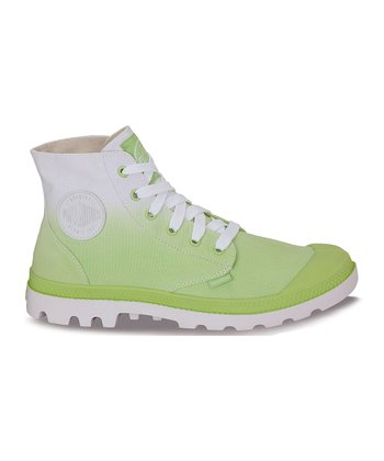 Sharp Green Fade Blanc Hi Boot
