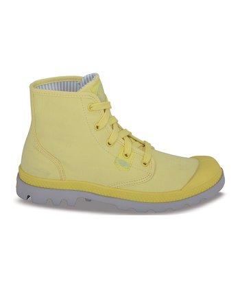 Palladium Bright Yellow & Vapor Pampa Hi Lite Boot