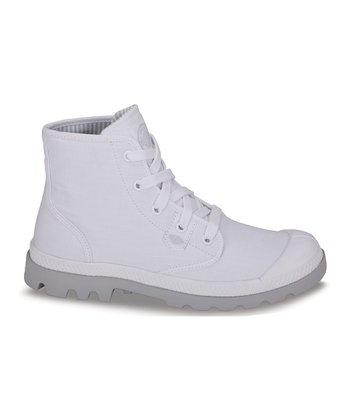 Palladium White & Vapor Pampa Hi Lite Boot