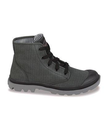 Palladium Black & Metal Stonewash Pampa Hi Lite Boot