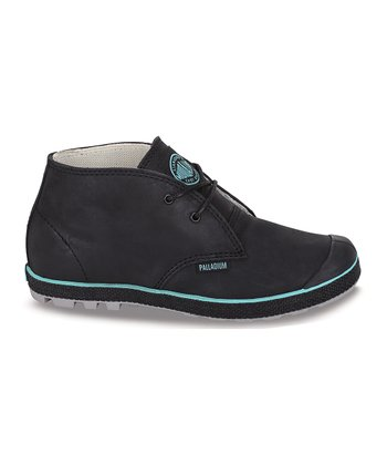 Black & Pool Blue Slim Chukka Boot
