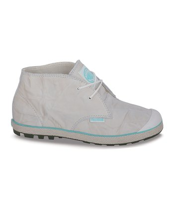 Off-White & Teal Slim Chukka Boot