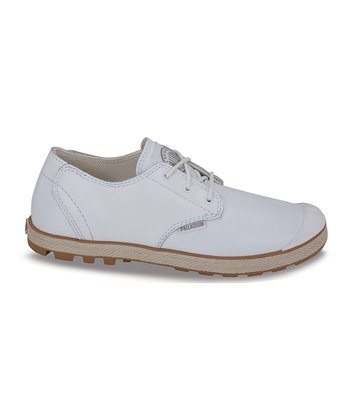 White & Light Gum Slim Oxford Sneaker