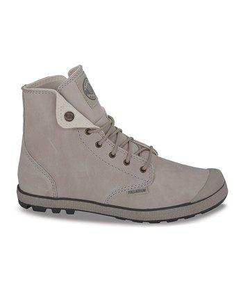 Palladium Tan & Seal Slim Snaps Leather Boot