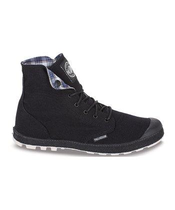 Palladium Black & Off-White Slim Snaps Boot