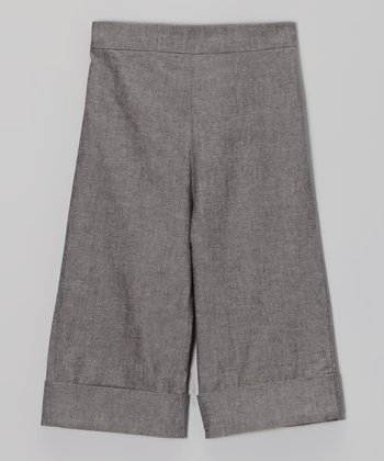 Chambray Wide-Leg Trousers - Toddler