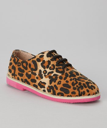 Tan Leopard Roxanne Oxford