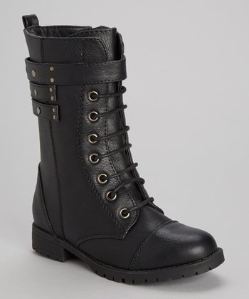 Black Nancy Combat Boot