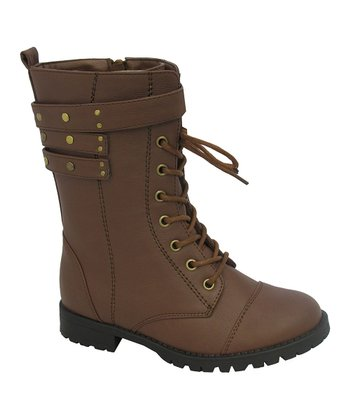 Brown Nancy Combat Boot