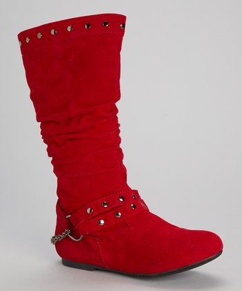 Red Harness Claudia Boot