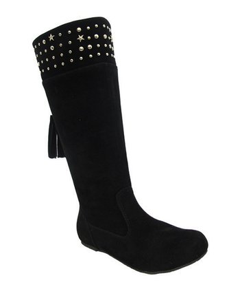 Black Studded Tania Boot